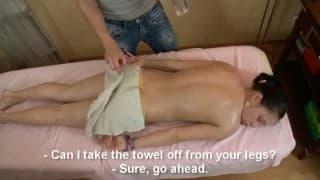 Teen enculée par son masseur