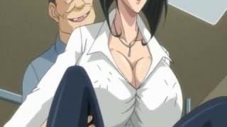 Un magnifique film hentai avec une cochonne et ses gros oppais