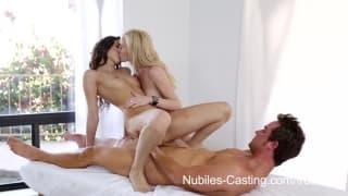 Nubiles Casting - Belle Knox et Skylar Green pour un casting