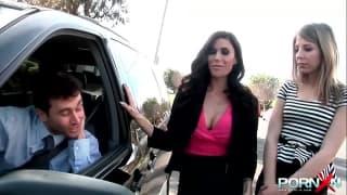 Deux pornstars bandes que baise James Deen avec hargne !