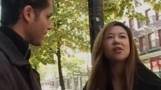 Ming une asiatique qui tourne son premier porno
