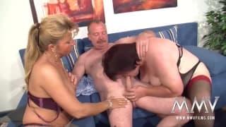 Petra Wegat baise un couple de mature