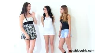 Luna, Donna et un ami dans un trio sexuel
