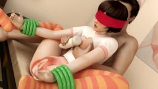 Porno 3D avec une femme fontaine