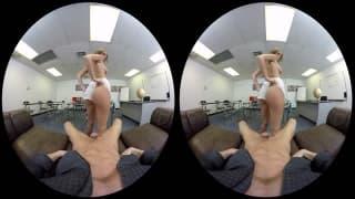 Scène en VR avec Alexis Adams et Ryan McLane !