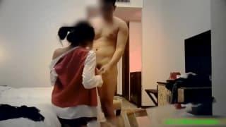 Couple asiatique se filme en mms pour cousine